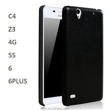 For Sony Xperia C4 Phone Smooth Pu Skin Case Back Cover