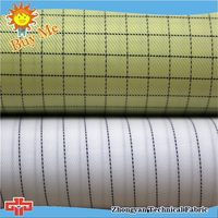 Well know static free polyester dupioni silk fabric