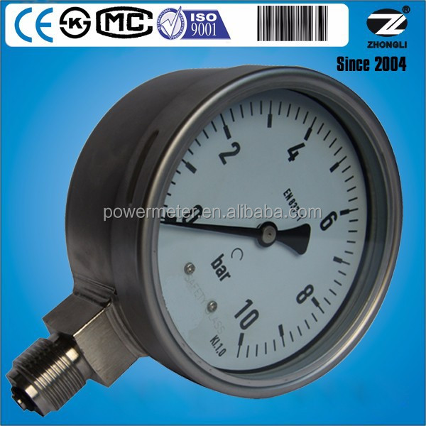Hot sale stainless steel case n cover air pressure gauge manometer