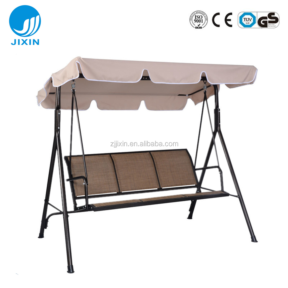 3 Person Seatesr Patio Outdoor Garden Large Swing Canopy With Weather Resistant Seat