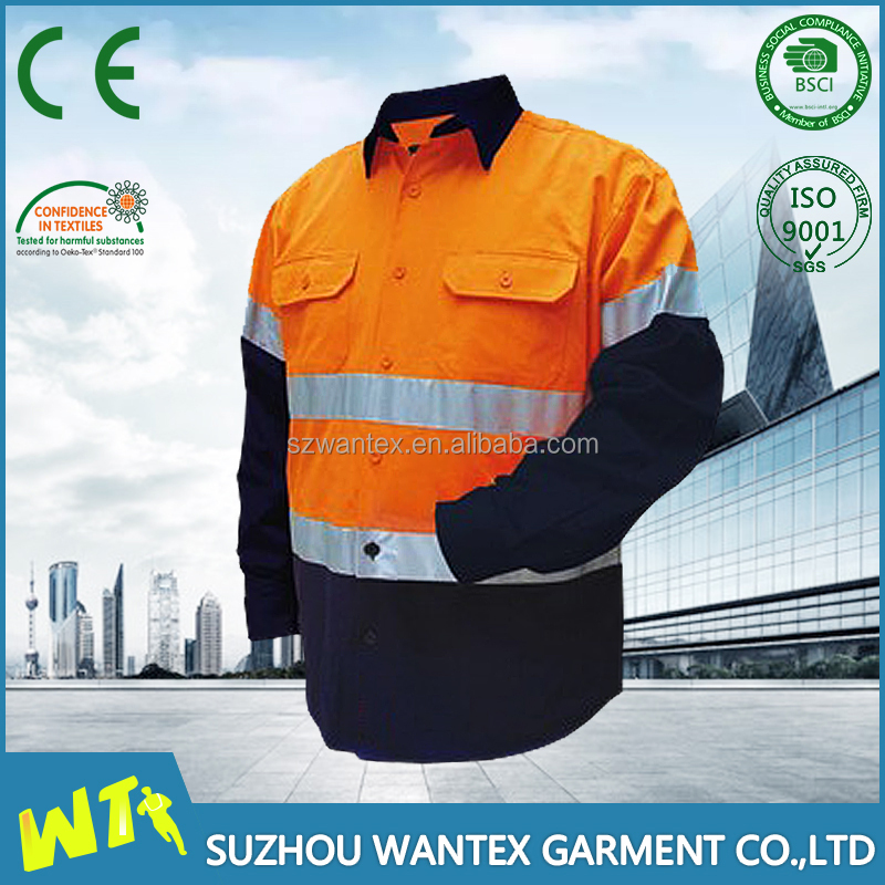 high quality cotton shirt men clothing custome working shirt spring or autumn wearable uniform