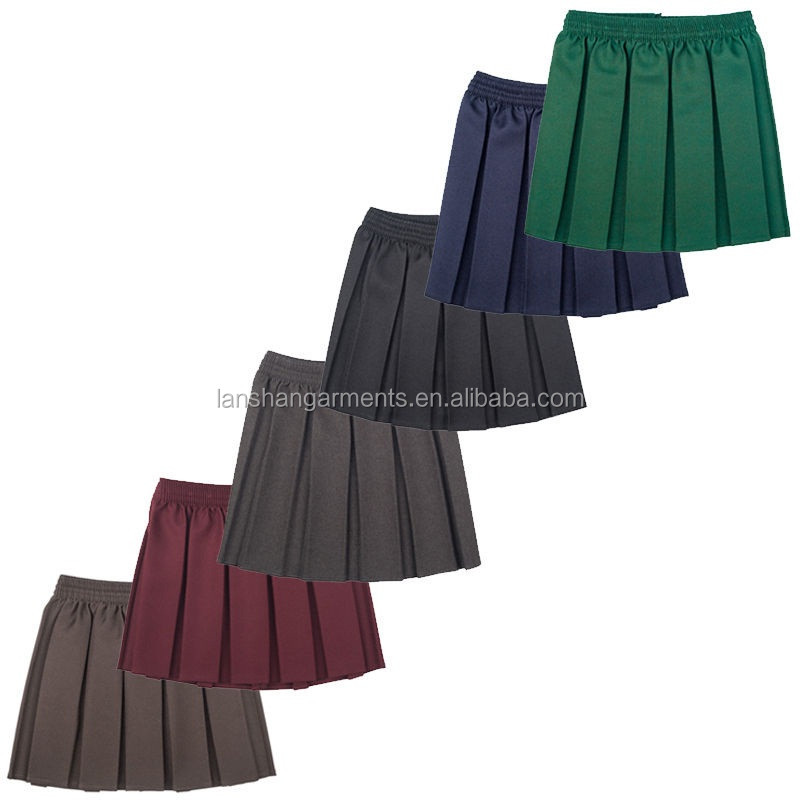 pleated skirt girls school uniform