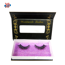 Factory hand made paper magnetic false eyelash packaging box with window