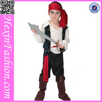 Wholesale Simple Cosplay Pirate Kids Costumes With Red Headband for boys