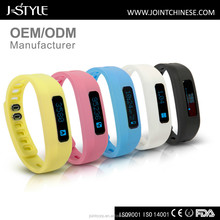 J-Style fashionable child tracker bracelet long time battery life BLE4.0 pedometer