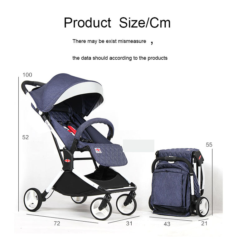 Light-weight Fold-able High Seat Baby Stroller/Perambulator Luxury