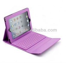 PU leather holder with bluetooth keyboard for ipad 2 case