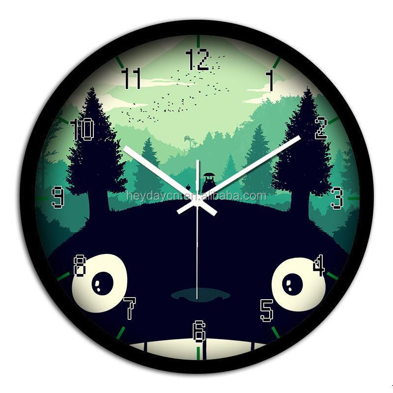 best selling home goods plastic cat wall clock(HJ-907)