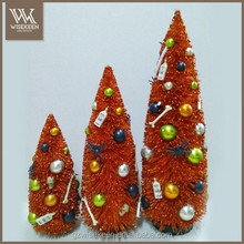 High Quality Decorated Tabletop Hall Tree With Matte Beads S/3
