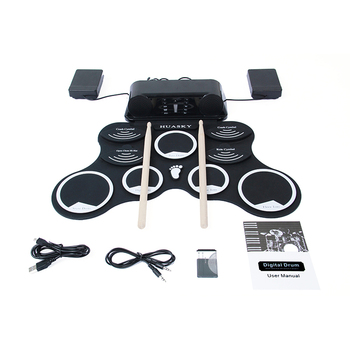 Gratis monster Professionele digitale draagbare hand roll silicone 10 drum oppervlak elektronische drum