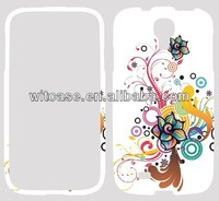Double snap on hard PC cover case for samsung galaxy s4 i9500 custom phone case