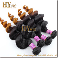 High Quality Loose Wave Peruvian Human Ombre Hair Extension