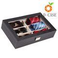 Leather Box Eyeglass Display case Organizer Jewelry Storage Case