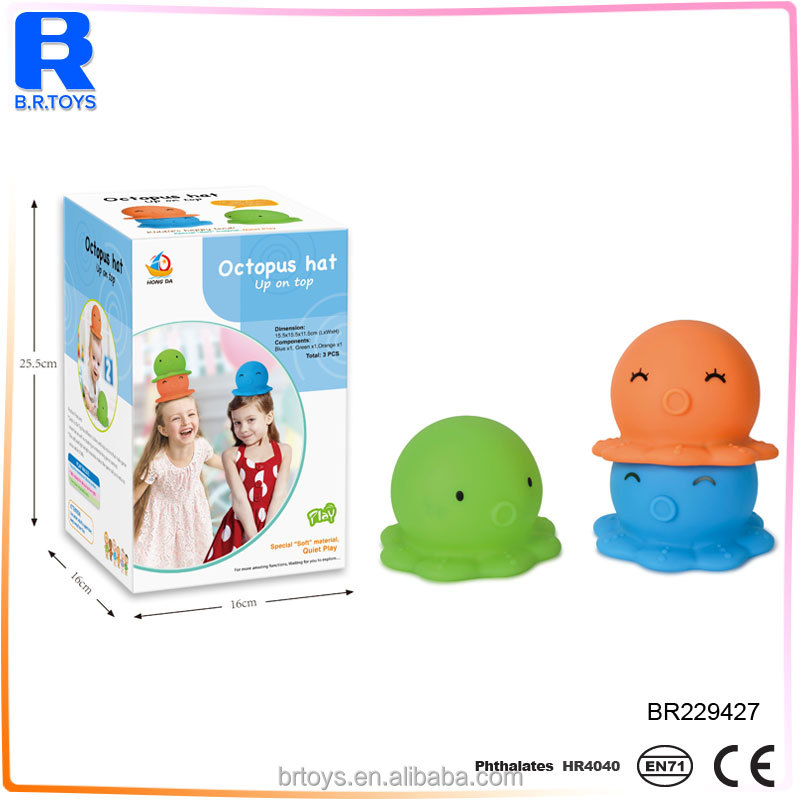 factory direclty funny vinyl octopus top hat toy for kids
