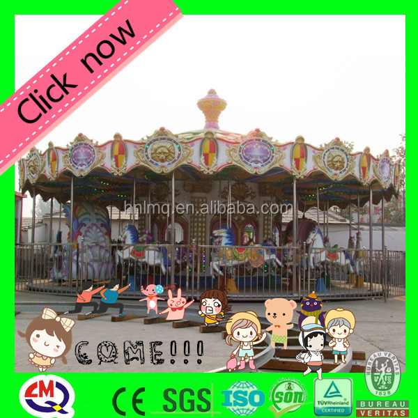 Fantastic carousel indoor playground children amusement ride with horses ride