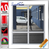 mill finish aluminium frame low e clear glass fixed window comply with AS2047 certified