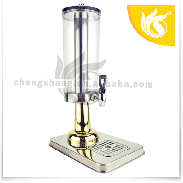 2013 New 3LStainless Steel Single Tank Drink Dispenser with Golden Plated Holder