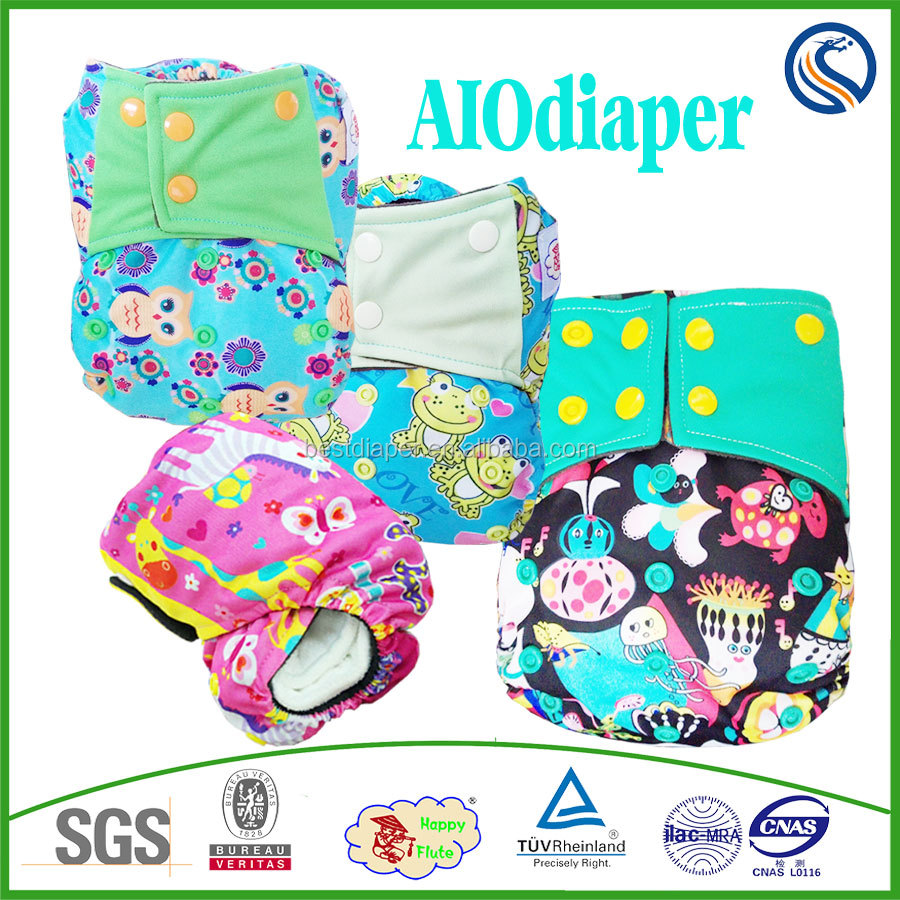 happyflute factory reusable washable cloth diaper high quality Wholesaler Baby Fine Diaper Sleepy