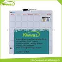 Top quality customise magnetic useful white board with grid lines