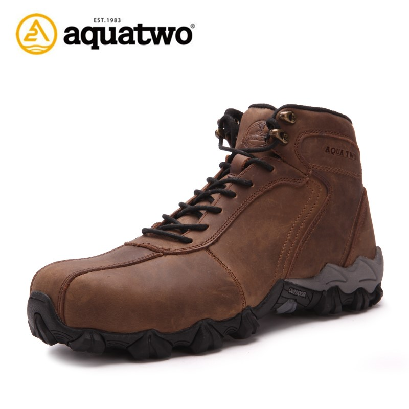 Aquatwo Brand High Ankle Army Jungle Boots With Waterproof Leather Upper