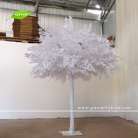 GNW BTR1609001-WT High quality wholesale white plastic artificial banyan tree