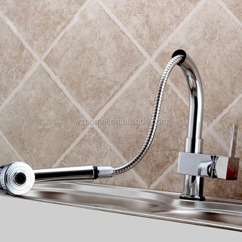 New European Style chrome finishing Kitchen Sink Pull Out Sprayer Faucet Mixer