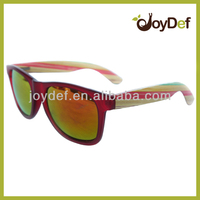 2014 Fashionable bamboo wooden glasses /cheap wooden with PC sunglasses/ wholesale