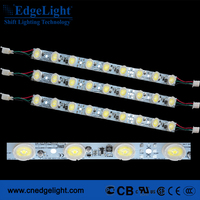 9 leds super bright with lens aluminium profile led strip