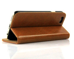 The Back Support Frame Of The Dark Brown Leather Holster For iphone 6 case