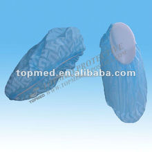 disposable shoe protection products, plastic overshoes disposable, anti-skid nonwoven shoe cover with bottom printed