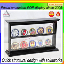 New Product Custom Made Wooden Challenge Coin Display Case