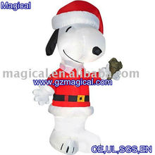 Inflatable Christmas cartoon dog/Air model