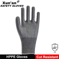 13 Gauge HPPE knitting stainless steel wire safety gloves