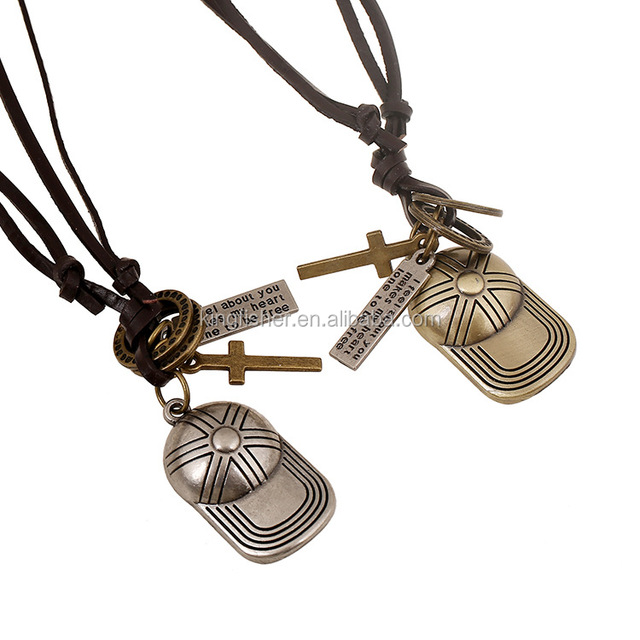 High quality handmade jewelry alloy hat pendant necklace for men and women wholesale