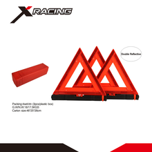 Xracing NMWTD11 PMMA+ABS Good price plastic ABS red color reflective Car Warning Triangle