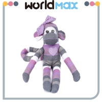 New Arrival Soft Cartoon Plush Toy Purple Monkey For Baby