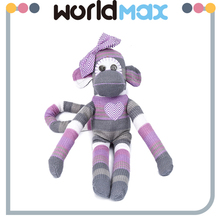 New Arrival Soft Cartoon Plush Toy Purple Monkey For Baby baby monkey plush toy blanket