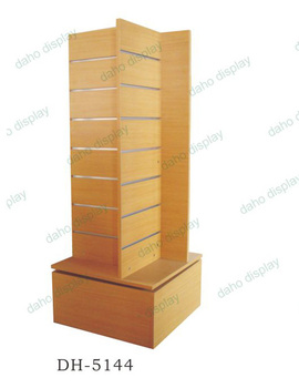 360 degree rotating jewelry display rack MDF rack