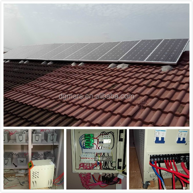 1000W 2000W off grid solar power system roof mount kit / Complete customized solar power system 1KW 5KW