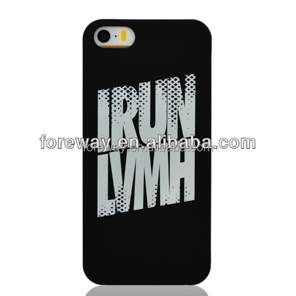 for iphone 5s SE silk screen case black case with white printing
