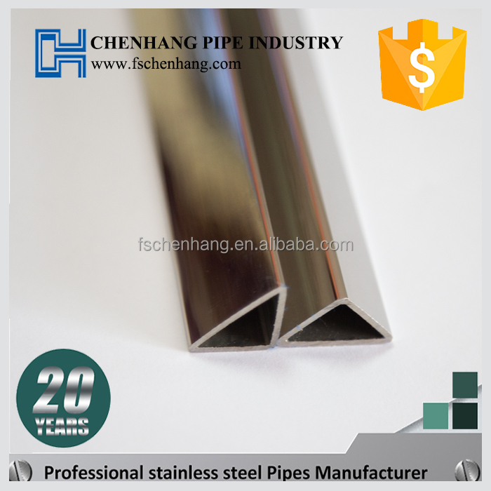 High quality 304 stainless steel triangle pipe forced tube