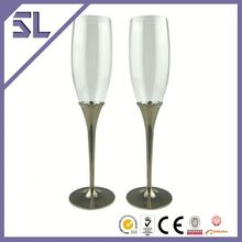 Carefully Craft Crystal Decorated Toasting Glass Colorful Glass Champagne Flute Bulk Buy From China