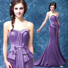 C71505A elegant purple long designer evening dinner dress patterns free