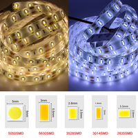 200mp 3m tape 12v smd 5630 led strip lighting 100mm