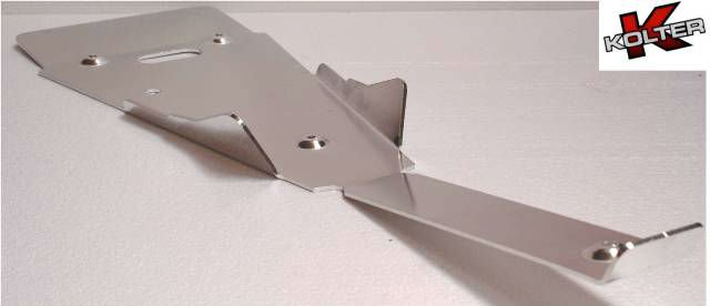 Skid plate for atv