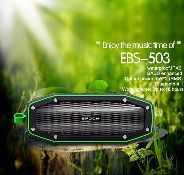 factory make 100% highest quality IPX6 waterproof portable mini bluetooth speaker distributor,playing time 18 hours