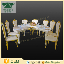C shaped stainless steel dining table furniture design