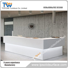 Modern design salon front desk furniture curved reception with great price