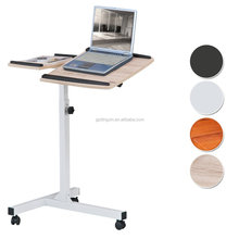 classical height adjustable laptop table sit stand computer desk