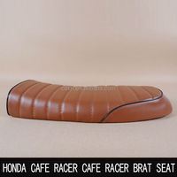 classic Retro Motorcycle Waterproof Flat seat Caterpillars Ride Sets Refit CG125 in common use cafe racer seat